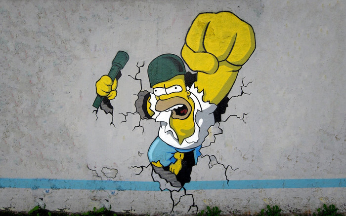 HD Wallpaper Homer Simpson, The Simpsons, Art