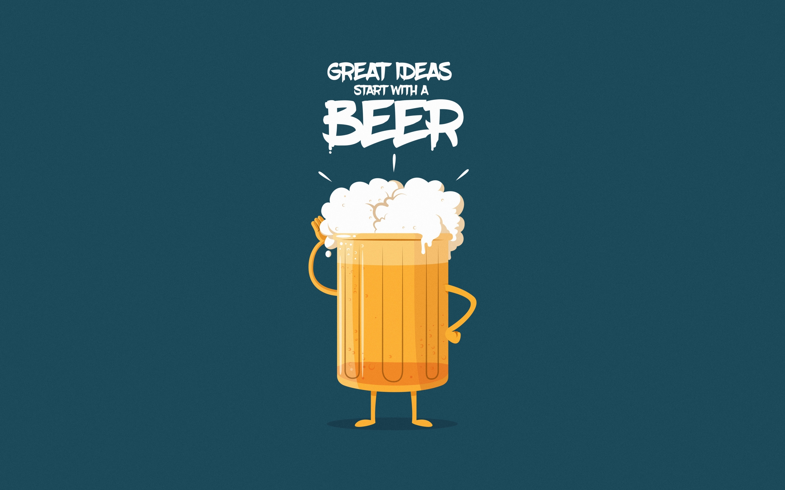 Wallpaper Of Beer Minimalist Humor Art Text Background
