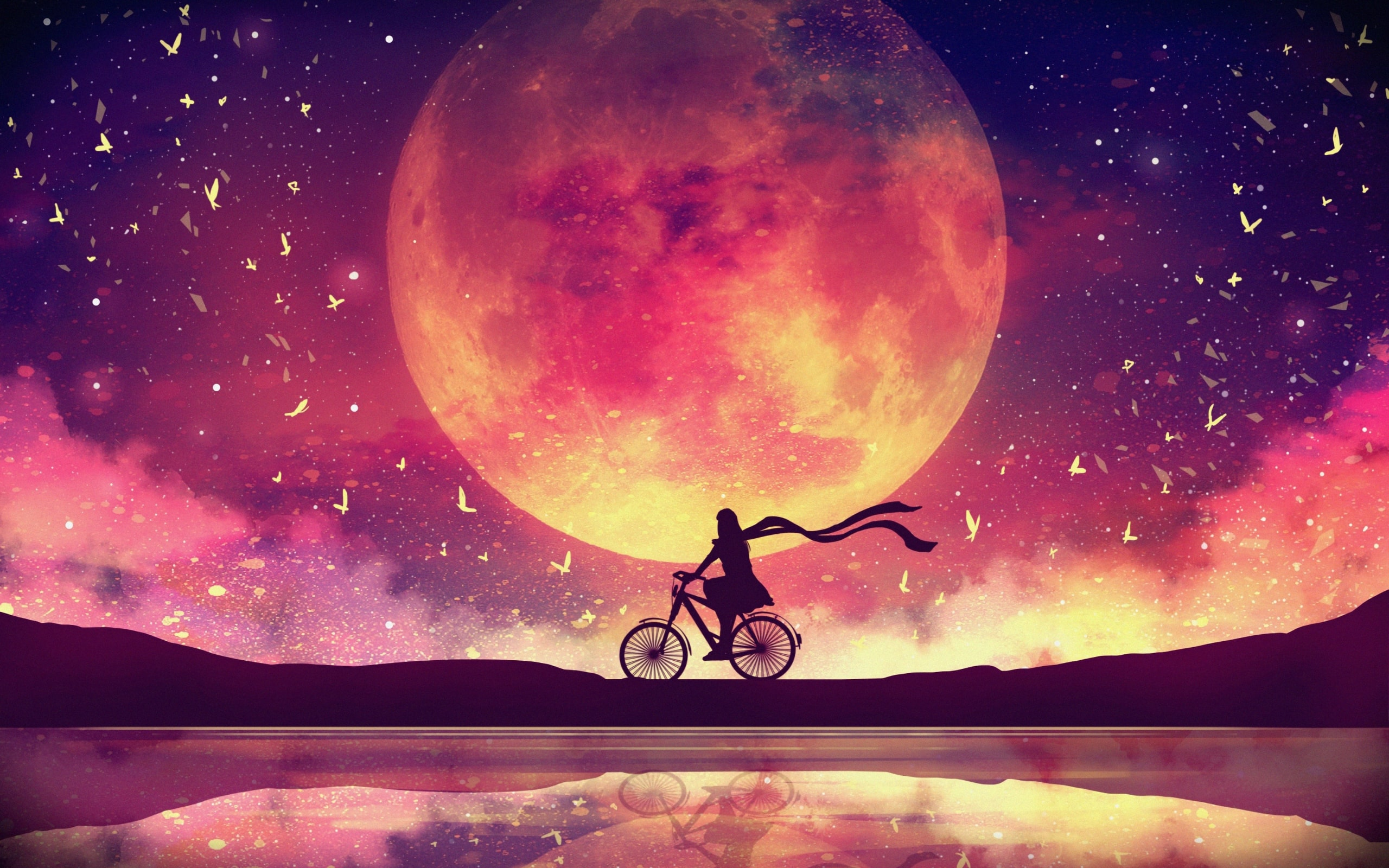 Wallpaper Of Artistic Digital Art Moon Background Hd Image