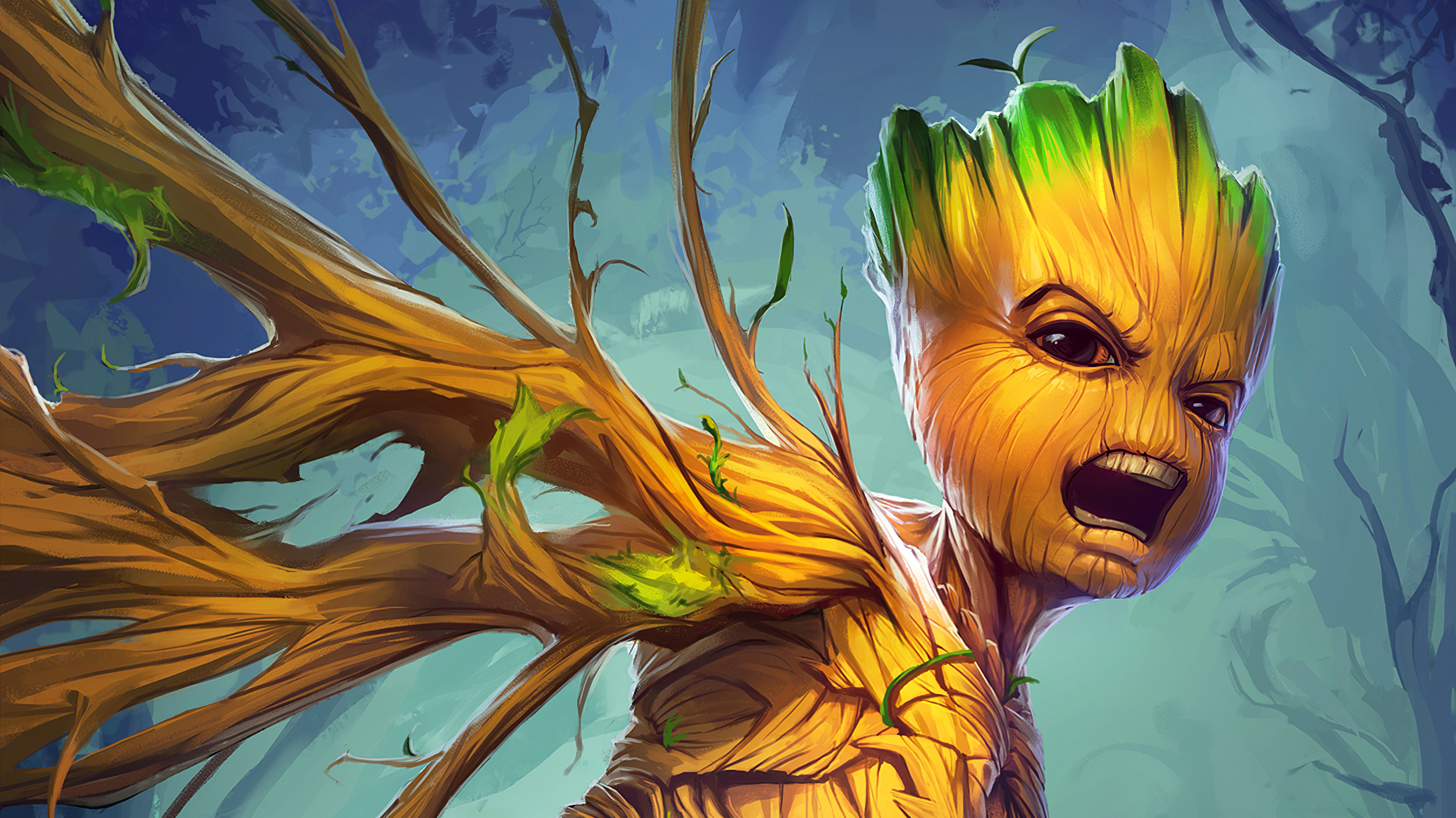 Wallpaper Of Baby Groot Guardians Of The Galaxy Marvel Comics