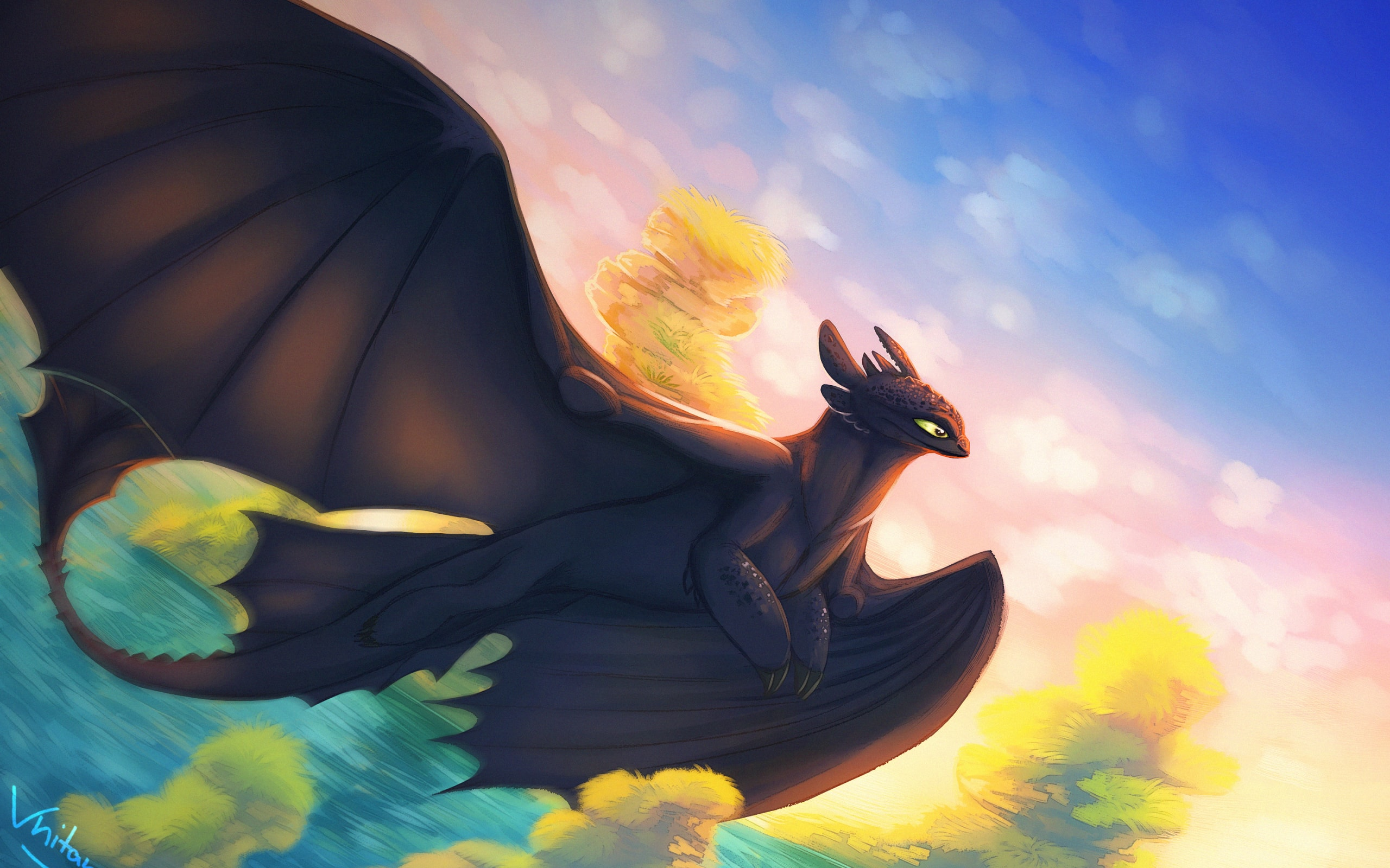 Wallpaper Of Art How To Train Your Dragon The Hidden World