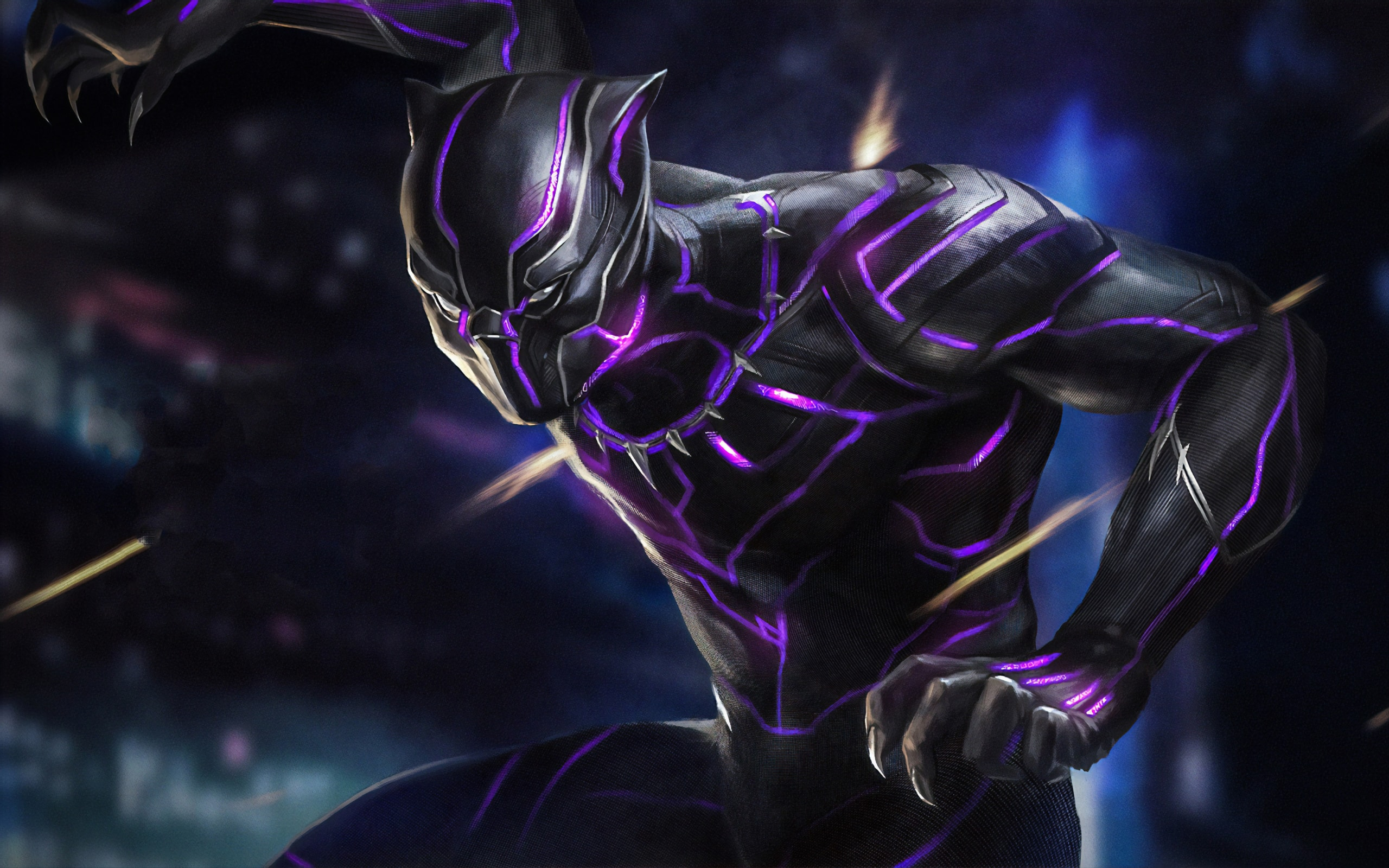 Black Panther Marvel Comics Art Wallpaper
