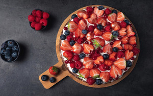 Preview wallpaper of Berry, Blueberry, Cake, Fruit, Pastry, Raspberry