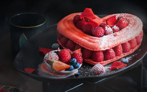 Preview wallpaper of raspberry, good, fruit, plant, cake