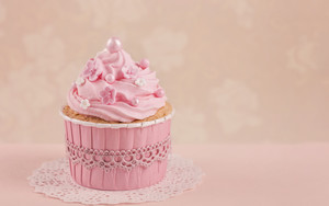 Preview wallpaper of pink, cupcake, food