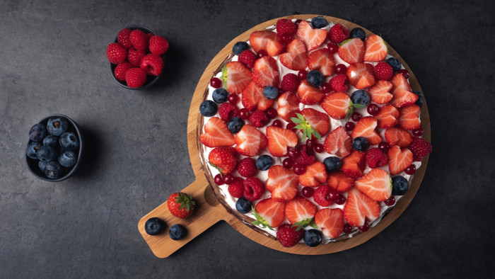 HD Wallpaper Berry, Blueberry, Cake, Fruit, Pastry, Raspberry