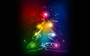 Preview wallpaper of Tree,  neon, xmas