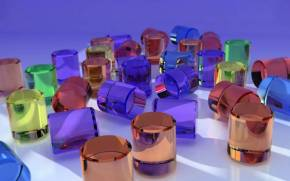Preview wallpaper of Cylinders, Glass, Colored
