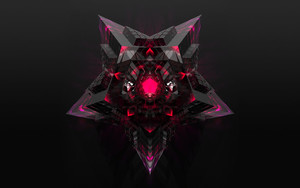 Preview wallpaper of 3D, Star, Black, Pink