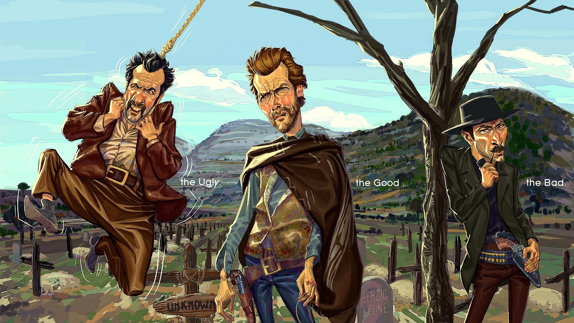 Wallpaper Of The Good The Bad And The Ugly Clint Eastwood