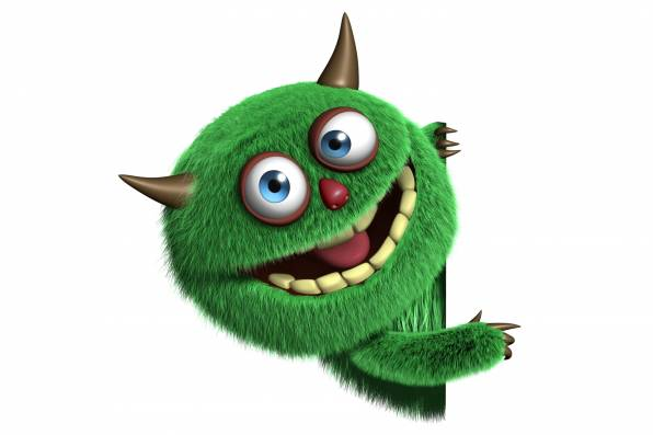 HD Wallpaper Monster, Nibbler, Green, Horns