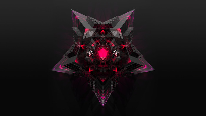 Wallpaper of 3D, Star, Black, Pink background & HD image