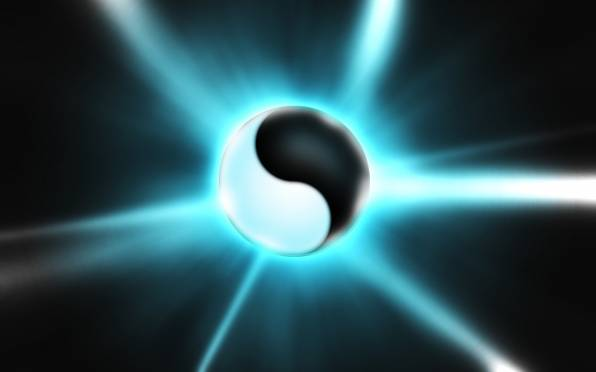 HD Wallpaper White, Sign, Black, Yin-Yang