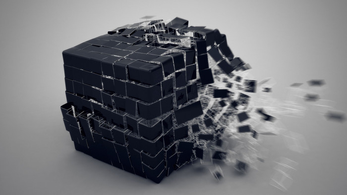 HD Wallpaper 3D, Cube, Explosion, Components